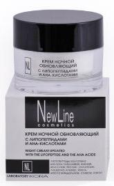 New Line Крем ночной обновляющий с липопетидами и АНА кислотами,50мл
