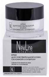 New Line Крем для чувствительной кожи, склонной к куперозу,50 мл eldan cosmetics питательный крем для кожи лица склонной к куперозу le prestige 50 мл