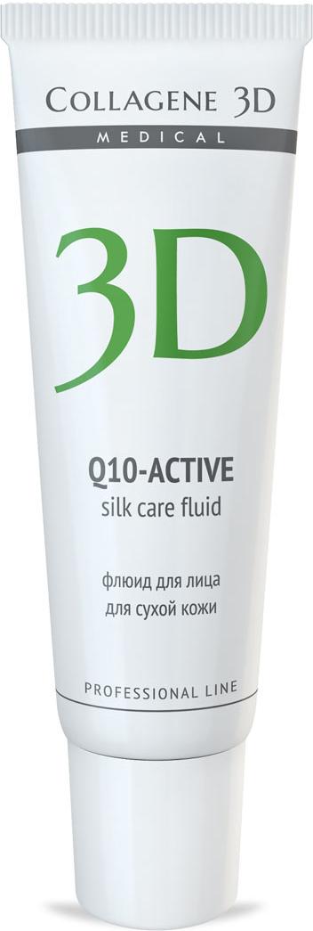 Medical Collagene 3D Флюид для лица Q10, 30 мл65500672Флюид с легкой тающей текстурой создает на коже шелковую вуаль. Активный антиоксидант коэнзим Q10, ценные масла авокадо и жожоба, входящие в состав, увлажняют кожу, насыщают ее питательными веществами.