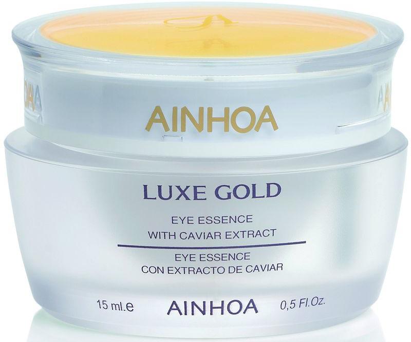 Ainhoa Luxe Gold Нежный гель-крем для глаз с экстрактом икры и золотой пудрой, 15 мл сыворотки ainhoa питательная сыворотка luxe gold