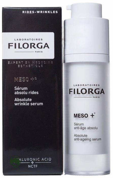 Filorga Сыворотка Meso+ против старения 30 мл16005Комплексно воздействует на все этапы старения: стимулирует, разглаживает,восстанавливает. Сыворотка является настоящим ускорителем коллагена, состоящим из молекулы NCTF, широко применяемой в космезотерапии, и фрагментов ДНК, обладает мощным увлажняющим и антиоксидантным эффектом, восстанавливает фибробласты: эксклюзивный коктейль стимулирует клеточную активность дермы для укрепления и восстановления кожи. Параллельно ретинол разглаживает кожу лица, устраняя морщины и выравнивая рельеф. Шелковистая текстура на водной основе мгновенно впитывается, обеспечивая эффект бархатной кожи. Кожа ровная и гладкая, восстановлена на поверхности и в глубине, свежая, отдохнувшая, светится энергией.Кожа ровная, гладкая светится энергией