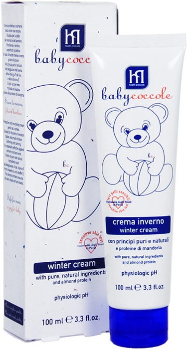 Крем Babycoccole. The Cares защитный, зимний, 100 млBFMOO3Защитный зимний крем Babycoccole. The Cares с чистыми натуральными ингредиентами и протеинами миндаля.Разработан специально для чувствительной кожи новорожденных и маленьких детей, успокаивает и увлажняет, защищает от холода и ветра благодаря чистым и натуральным ингредиентам, таким как бетаглюкан овса, витамин F из льняного масла, витамин Е, протеины миндаля поддерживают мягкость и эластичность кожи. Характеристики:Объем: 100 мл.Товар сертифицирован.