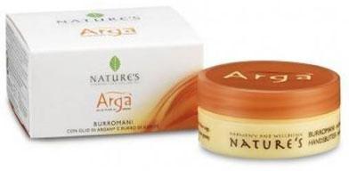 Крем для рук Natures Arga, 50 мл60150801Питательный крем для рук Natures Arga с маслами арганы, оливы, миндаля и ши ухаживает за кожей рук, обеспечивая надежную защиту от пересыхания, раздражения и воспаления. Идеален для сухой, потрескавшейся кожи, подверженной преждевременному старению. Быстро впитывается, не оставляя жирного блеска.Способ применения: наносите на руки легкими массажными движениями до полного впитывания несколько раз в день по мере необходимости. Характеристики:Объем: 50 мл. Производитель: Италия. Артикул:60150801. Товар сертифицирован.Как ухаживать за ногтями: советы эксперта. Статья OZON Гид
