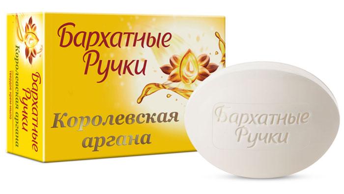 Бархатные Ручки Крем-мыло Королевская аргана 75 гр1107114721Масло Арганы- одно из самых ценных и эффективных масел в мире- его называют жидкимзолотом! Благодаря содержанию увлажняющее крема, нежнейшее крем-мыло с маслом Арганы не толькомягко очищает, но и обеспечивает увлажнение и смягчение кожи рук. Входящие в состав маслаАрганы незаменимые омега-кислоты превосходно питают кожу, антиоксиданты продлеваютмолодость кожи рук.Уважаемые клиенты! Обращаем ваше внимание на то, что упаковка может иметь несколько видовдизайна.Поставка осуществляется в зависимости от наличия на складе.