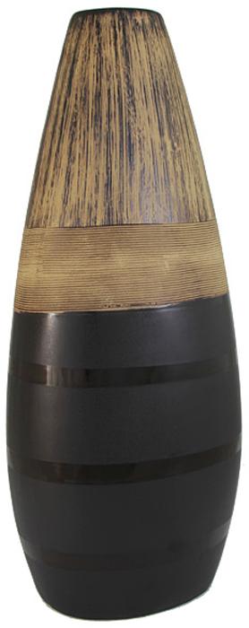 Ваза SDJ Бангкок, высота 43 смSDJ-42-601371-3-ALРоскошная ваза SDJ Бангкок изготовлена из высококачественной керамики с декором в этническом стиле. Особенностью вазы является сочетание различных текстур на поверхности. Контрастность матовой или глянцевой поверхности создает динамичный яркий образ. Этнический стиль в декоре интерьера появился в начале XX века и с тех пор продолжает завоевывать все больше поклонников. Это связано с интересом людей ко всему необычному и экзотическому, что делает жизнь более интересной и яркой. Ваза SDJ Бангкок прекрасно дополнит любой интерьер и станет желанным и стильным подарком. Высота вазы: 43 см.