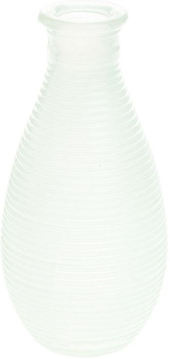 Ваза Gardman Mini, цвет: белый, высота 14 см17832Изящная ваза Gardman Mini, изготовленная из стекла с металлической фольгой внутри, имеет оригинальную форму. Она идеально дополнит интерьер офиса или дома и станет желанным и стильным подарком.Высота вазы: 14 см.