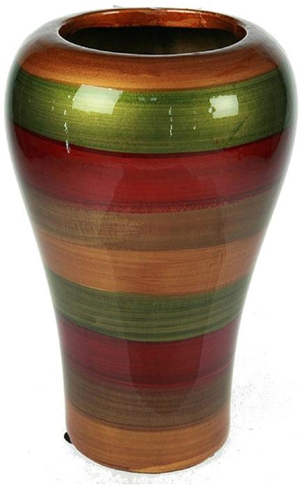 Ваза Русские Подарки, высота 27 см. 115916115916Ваза Русские Подарки, выполненная из керамики, украсит интерьер вашего дома или офиса. Оригинальный дизайн и красочное исполнение создадут праздничное настроение.Такая ваза подойдет и для цветов, и для декора интерьера. Кроме того - это отличный вариант подарка для ваших близких и друзей.Правила ухода: мыть теплой водой с применением нейтральных моющих средств. Размер вазы: 18 х 18 х 27 см.