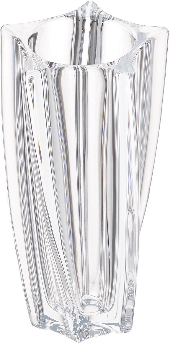 Ваза Crystalite Bohemia Йоко, высота 25,5 см8KF31/0/99P77/255Изящная ваза Crystalite Bohemia Йоко изготовлена из прочного утолщенного стекла кристалайт. Она красиво переливается и излучает приятный блеск. Верхнее и нижнее основания вазы выполнены в виде пятиконечных звезд, что делает ее оригинальным украшением интерьера. Ваза Crystalite Bohemia Йоко дополнит интерьер офиса или дома и станет желанным и стильным подарком.