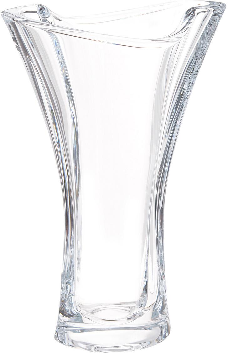 """Изящная ваза Crystalite Bohemia """"Смайл"""" изготовлена из прочного утолщенного стекла """"кристалайт"""". Она красиво переливается и излучает приятный блеск. Ваза имеет оригинальную ассиметричную форму с плавными неровными краями, что делает ее изящным украшением интерьера. Ваза Crystalite Bohemia """"Смайл"""" дополнит интерьер офиса или дома и станет желанным и стильным подарком."""