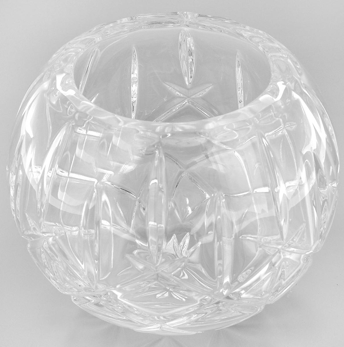 Ваза Crystal Bohemia Шар, диаметр 10 см290/69511/0/52820/175-109Ваза Crystal Bohemia Шар выполнена из прочного высококачественного хрусталя и декорирована рельефом. Она излучает приятный блеск и издает мелодичный звон. Ваза сочетает в себе изысканный дизайн с максимальной функциональностью. Ваза не только украсит дом и подчеркнет ваш прекрасный вкус, но и станет отличным подарком.Высота: 14 см.Диаметр по верхнему краю: 10 см.Диаметр основания: 7 см.