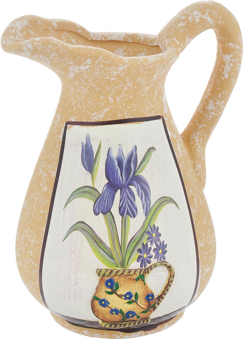 """Элегантная ваза Lillo """"Ирисы"""" выполнена из высококачественной керамики в виде кувшина и декорирована рисунком. Она придется по вкусу и ценителям классики, и тем, кто предпочитает утонченность и изящность. Вы можете поставить вазу в любом месте, где она будет удачно смотреться и радовать глаз. Такая ваза подойдет и для цветов, и для декора интерьера. Кроме того - это отличный вариант подарка для ваших близких и друзей. Высота вазы: 25 см.Диаметр по верхнему краю: 6 см.Диаметр основания: 11,5 см."""