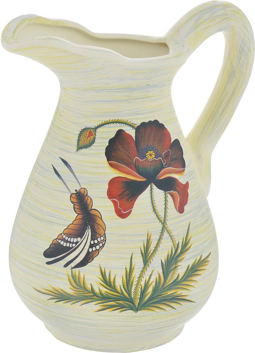 Ваза Lillo Маки и бабочка, высота 25 смLil 3056Элегантная ваза Lillo Маки и бабочка выполнена из высококачественной керамики в виде кувшина и декорирована рисунком. Она придется по вкусу и ценителям классики, и тем, кто предпочитает утонченность и изящность. Вы можете поставить вазу в любом месте, где она будет удачно смотреться и радовать глаз. Такая ваза подойдет и для цветов, и для декора интерьера. Кроме того - это отличный вариант подарка для ваших близких и друзей. Высота вазы: 25 см.Диаметр основания: 11,5 см.