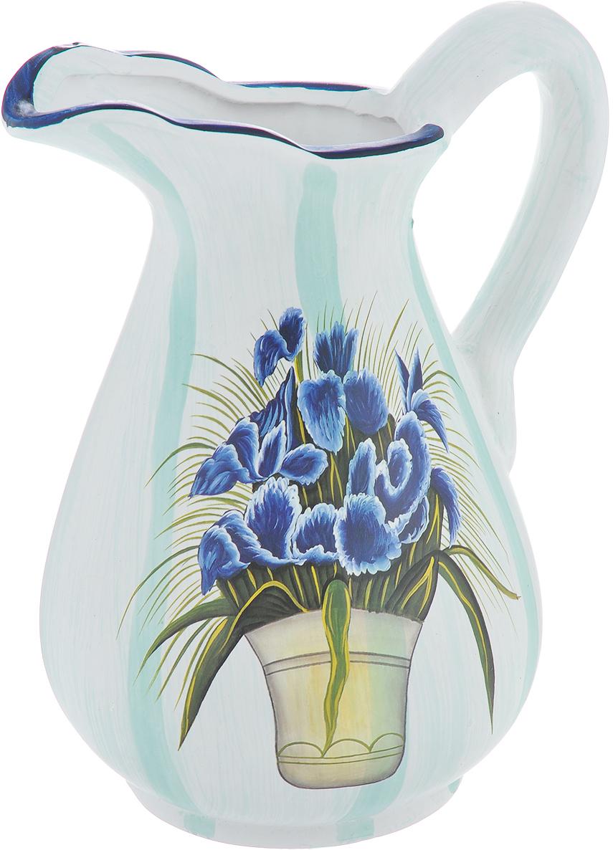 Ваза Lillo Синие цветы, высота 25 смLil 3096Элегантная ваза Lillo Синие цветы выполнена из высококачественной керамики в виде кувшина и декорирована рисунком. Она придется по вкусу и ценителям классики, и тем, кто предпочитает утонченность и изящность. Вы можете поставить вазу в любом месте, где она будет удачно смотреться и радовать глаз. Такая ваза подойдет и для цветов, и для декора интерьера. Кроме того - это отличный вариант подарка для ваших близких и друзей. Высота вазы: 25 см.Диаметр по верхнему краю: 6 см.Диаметр основания: 11,5 см.