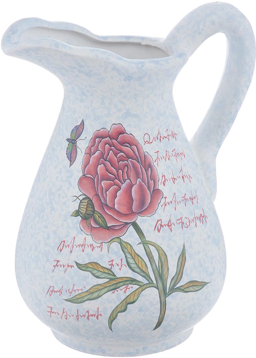 Ваза Lillo Нежный цветок, высота 25 смLil 3097Элегантная ваза Lillo Нежный цветок выполнена из высококачественной керамики в виде кувшина и декорирована рисунком. Она придется по вкусу и ценителям классики, и тем, кто предпочитает утонченность и изящность. Вы можете поставить вазу в любом месте, где она будет удачно смотреться и радовать глаз. Такая ваза подойдет и для цветов, и для декора интерьера. Кроме того - это отличный вариант подарка для ваших близких и друзей. Высота вазы: 25 см.Диаметр по верхнему краю: 6 см.Диаметр основания: 11,5 см.