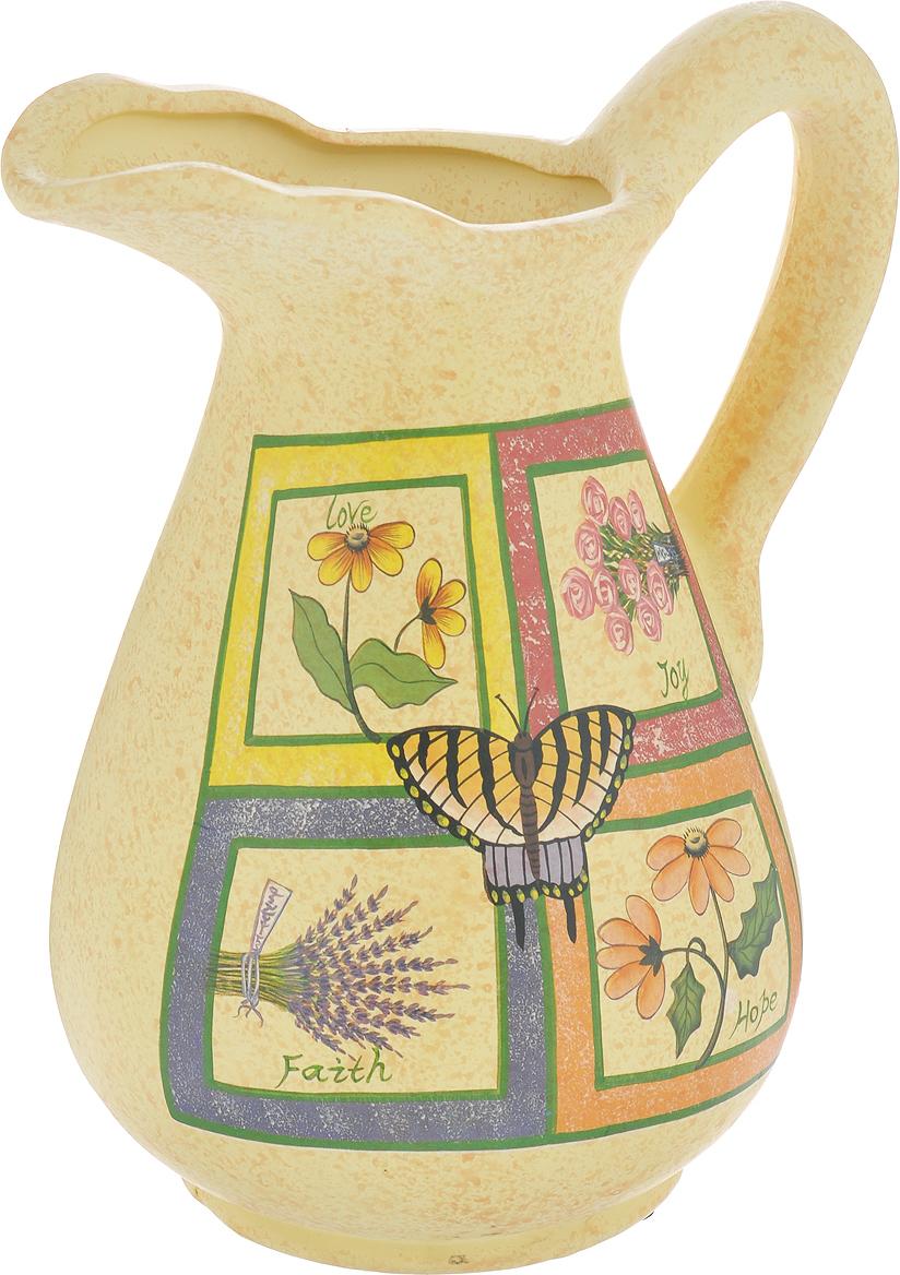 Ваза Lillo Цветы, высота 25 смLIL 3189Элегантная ваза Lillo Цветы выполнена из высококачественной керамики в виде кувшина и декорирована рисунком. Она придется по вкусу и ценителям классики, и тем, кто предпочитает утонченность и изящность. Вы можете поставить вазу в любом месте, где она будет удачно смотреться и радовать глаз. Такая ваза подойдет и для цветов, и для декора интерьера. Кроме того - это отличный вариант подарка для ваших близких и друзей. Высота вазы: 25 см.Диаметр основания: 11,5 см.