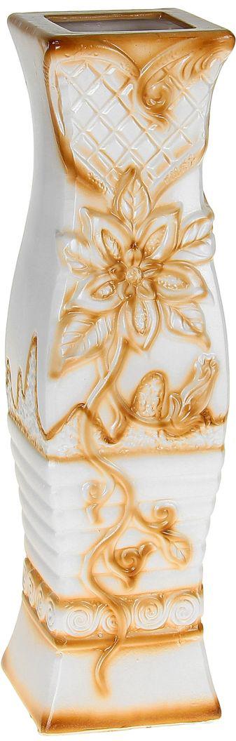 Ваза Цветущая лилия, напольная, высота 60 см. 10449841044984Ваза Цветущая лилия, выполненная из керамики, украсит интерьер вашего дома или офиса. Оригинальный дизайн и красочное исполнение создадут праздничное настроение.Вы можете поставить вазу в любом месте, где она будет удачно смотреться, и радовать глаз. Такая ваза подойдет и для цветов, и для декора интерьера. Кроме того - это отличный вариант подарка для ваших близких и друзей.