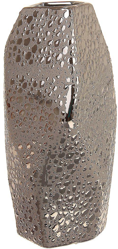 """Ваза Sima-land """"Изгиб"""" изготовлена из прочной керамики. Интересная форма и необычное оформление сделают эту вазу замечательным украшением интерьера. Она предназначена как для живых, так и для искусственных цветов. Основание оснащено противоскользящими накладками.Любое помещение выглядит незавершенным без правильно расположенных предметовинтерьера. Они помогают создать уют, расставить акценты, подчеркнуть достоинства или скрытьнедостатки."""
