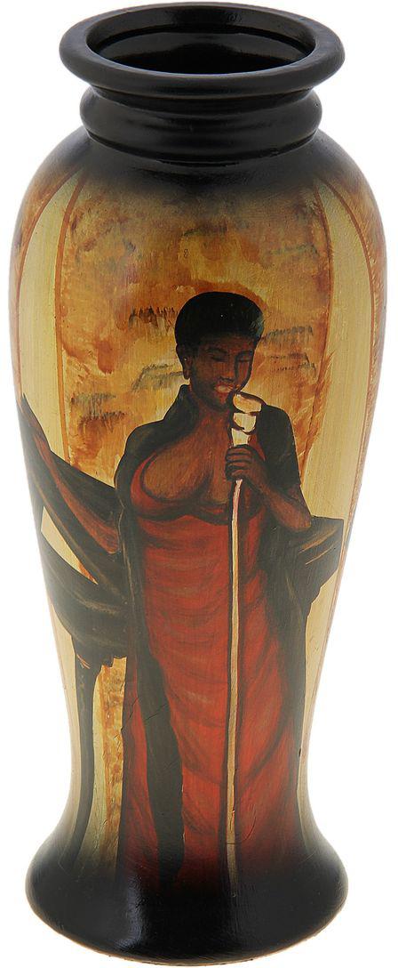 Ваза Sima-land Певица, высота 27 см106849Стильная ваза ручной работы Sima-land Певица изготовлена из прочной керамики. Изделие оформлено красочным изображением и оснащено антискользящими вставками на дне. Такая изящная ваза с легкостьювпишется практически в любой интерьер. Она станет изумительным подарком, которыйдоставит радость, ведь это не только красивый, но еще и функциональный презент.