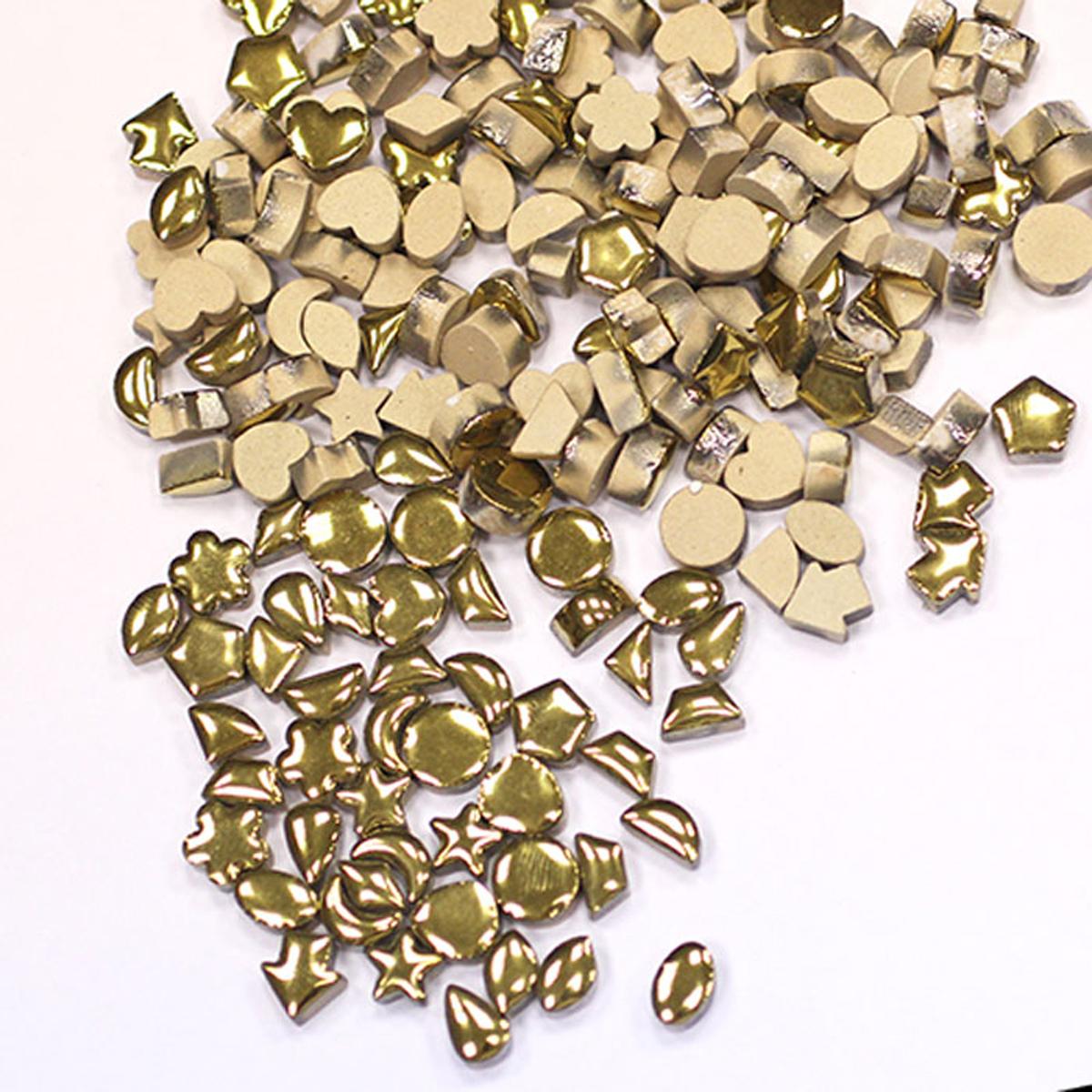 Мозаика керамическая Craft Premier с золотой глазурью, 1 х 1 см, 100 г  - купить со скидкой