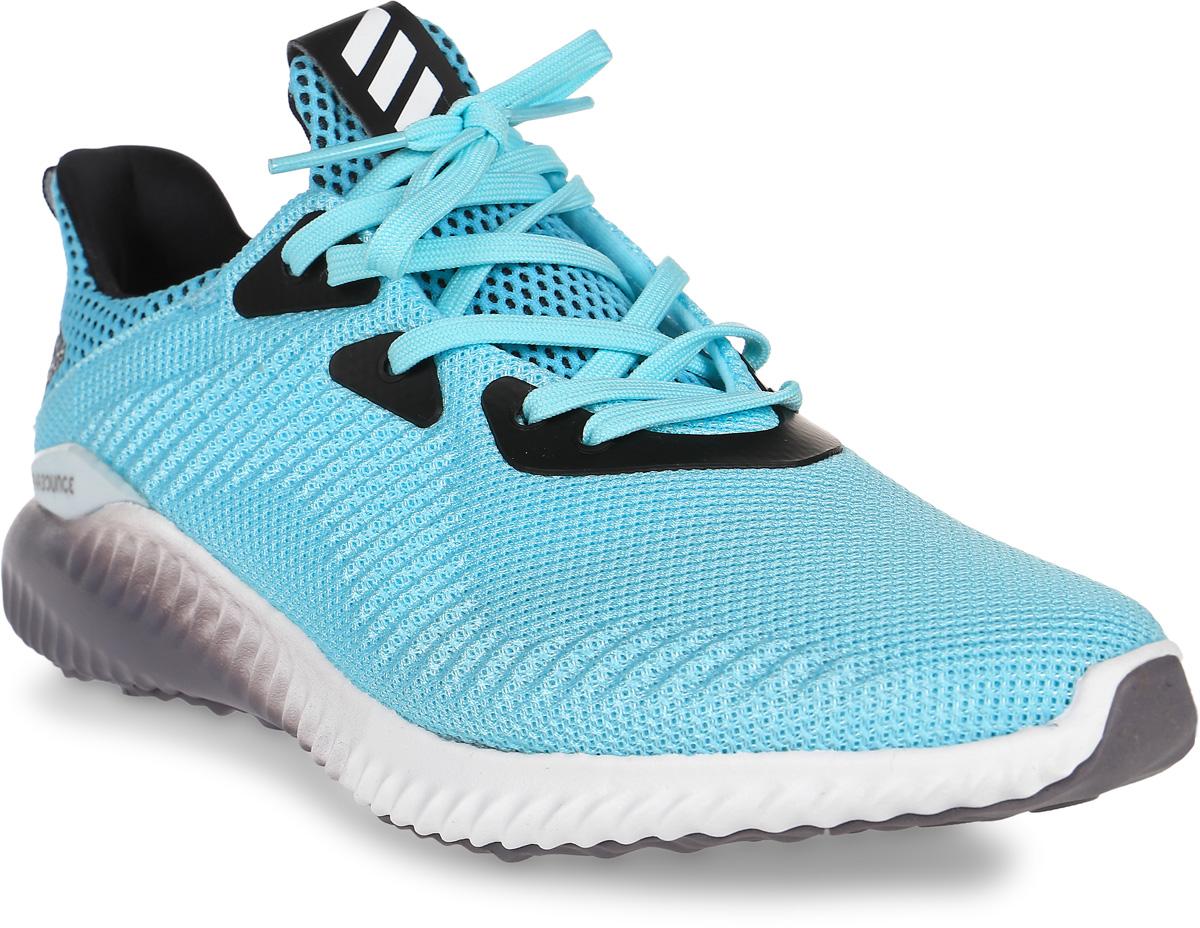 Кроссовки для бега женские adidas Alphabounce 1, цвет: бирюзовый. B39429. Размер 6,5 (38,5)B39429Удобные женские кроссовки для плавного бега. Бесшовный эластичный верх FORGEDMESH и текстильная подкладка обеспечивают плотно прилегающую посадку. Гибкая промежуточная подошва BOUNCE смягчает каждый шаг, создавая для стопы комфортные условия во время продолжительных забегов.Тип поддержки стопы: нейтральный. Технология BOUNCE оптимизирует амортизацию, заряжая каждый шаг дополнительной энергией. Бесшовный эластичный верх со стратегически расположенными поддерживающими вставками обеспечивает индивидуальную и максимально естественную посадку. Литой задник из ЭВА для дополнительной поддержки пятки. Плотно облегающая конструкция для удобной посадки; комфортная текстильная подкладка. Цепкая резиновая подошва. Вес: 270 г (размер 37,5).Перепад высоты на промежуточной подошве: 10 мм (пятка: 22 мм / носок: 12 мм).