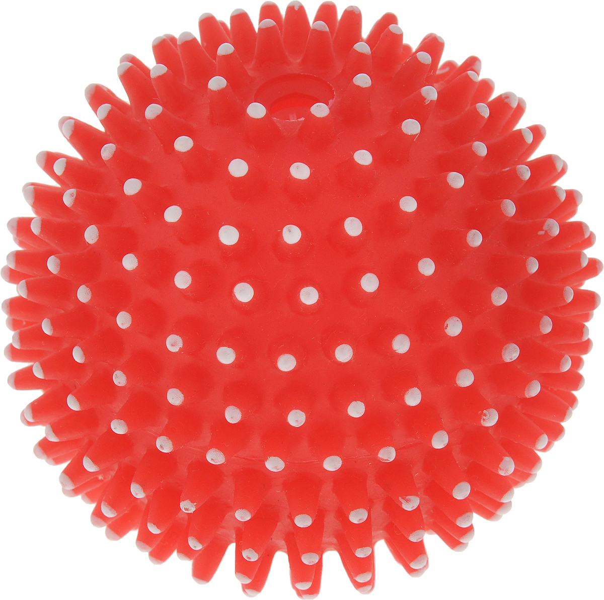 Игрушка для собак GLG Мяч игольчатый, с пищалкой, 7 смev-27Игрушка для собак - это супер прочная, супер безопасная и супер увлекательная игрушка. Мячик при бросании отскакивает по непредсказуемой траектории. Что обеспечивает часы веселья и удовольствия. Запатентованный материал и дополнительные массажные элементы-шипы гарантируют, что ваша собака будет наслаждаться игрой с мячом в течение длительного времени. Очень прочный.Непредсказуемый отскок.Средний размер для собак весом от 6 до 15 кг.Мячик плавает и пищит.