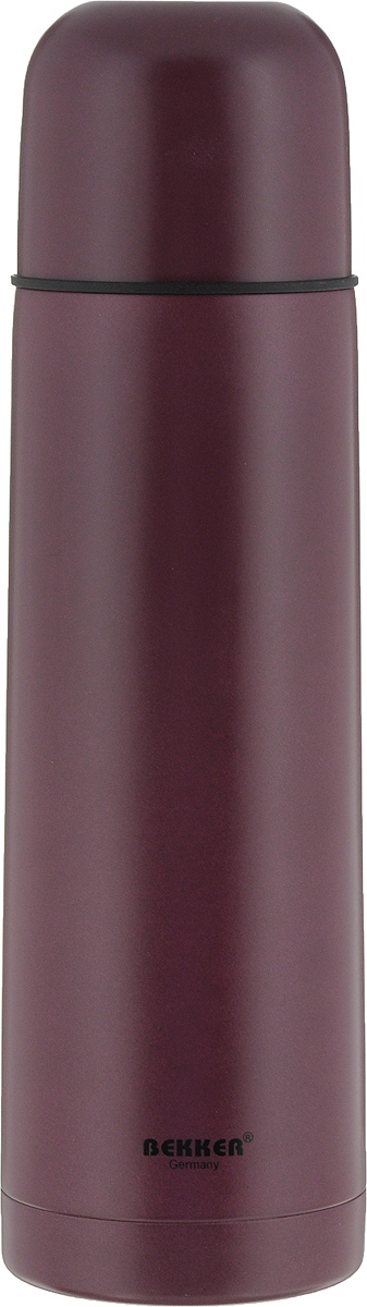 Термос Bekker, цвет: темно-бордовый, 500 мл. BK-4036