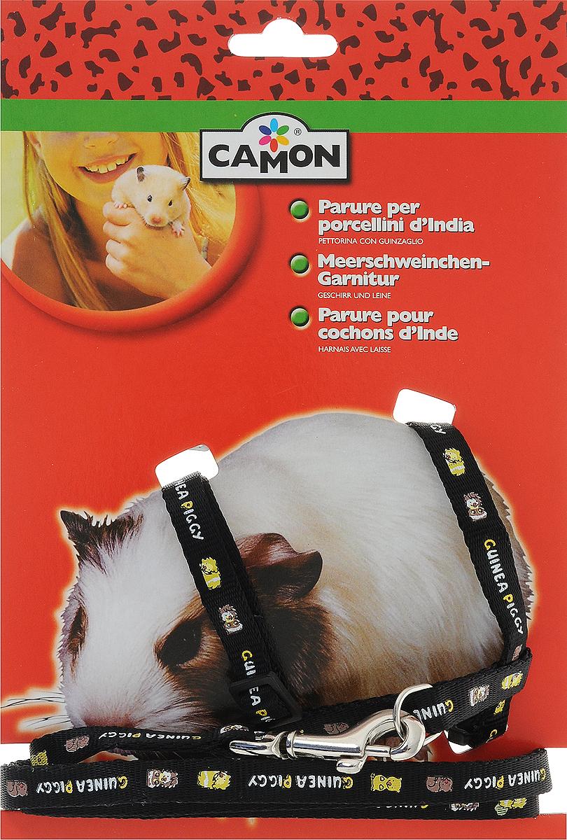 Шлейка для морской свинки Camon, цвет: черный, 1 х 120 смH411_черныйУдобная и красивая шлейка выполненная из полиэстера и нейлона, заменит любимцу куртку и ошейник одновременно. Оригинальное и практичное решение. Стильно и удобно. В комплекте поводок, который крепиться на металлический карабин. Размер увеличивается благодаря застежкам.Изделие подойдет для морской свинки, кролика и хорька.Длина поводка: 120 смШирина: 1 см