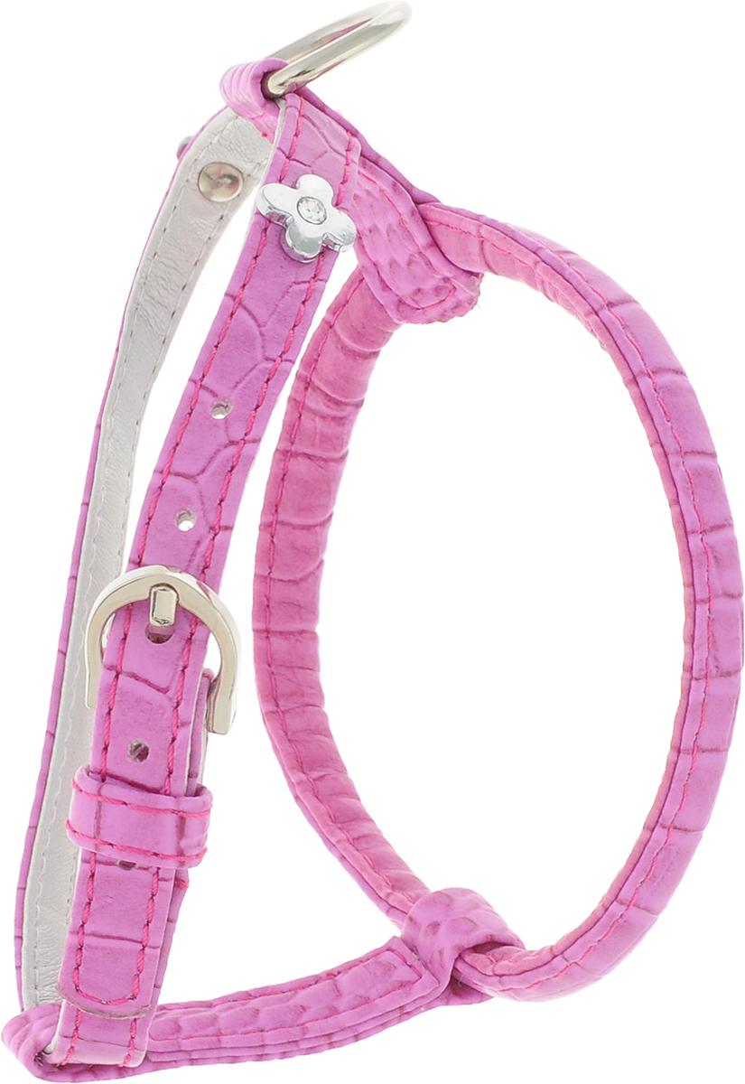 Шлейка для собак GLG Flower, цвет: розовый. Размер S шлейка для собак ш1в аркон 1 водильная