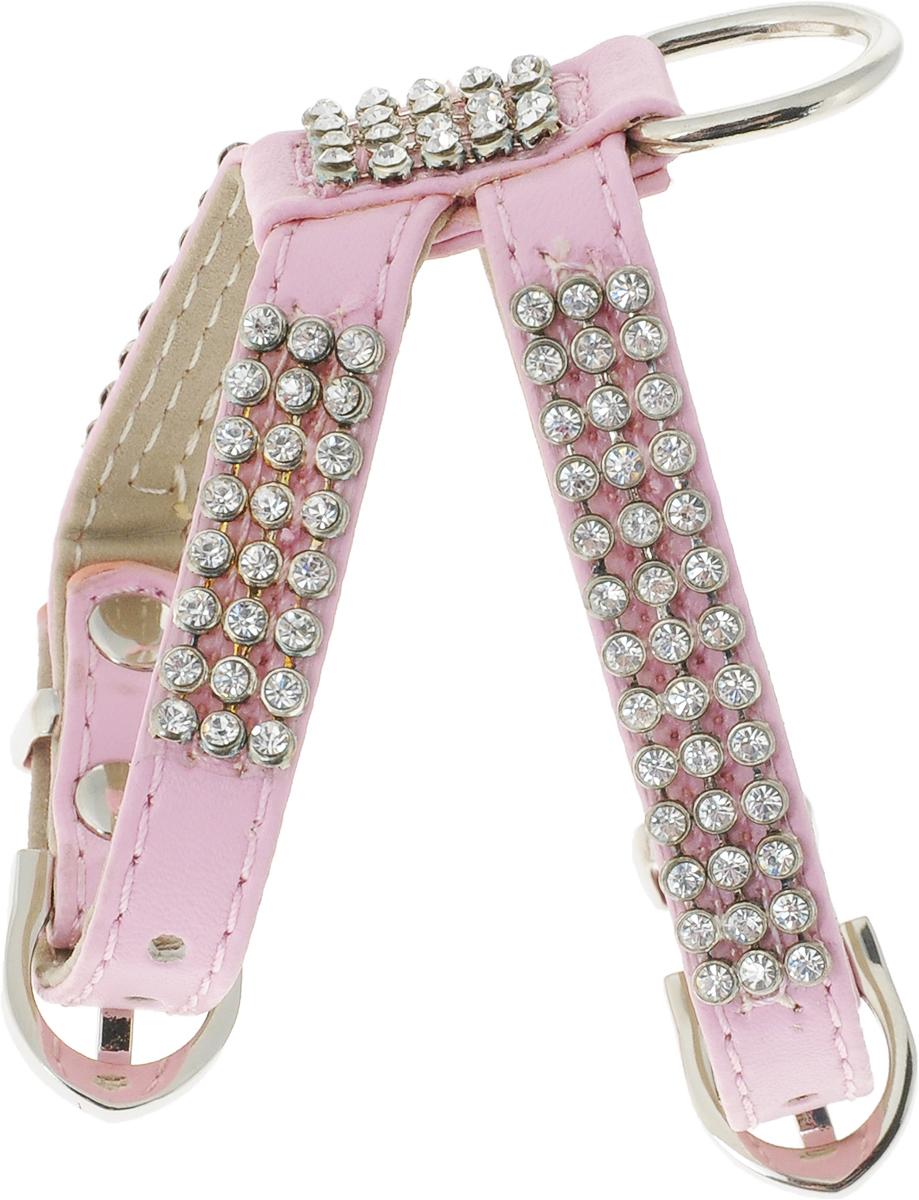 Шлейка для собак GLG Silver, цвет: розовый, 20/24 смAM-DC096/A-24