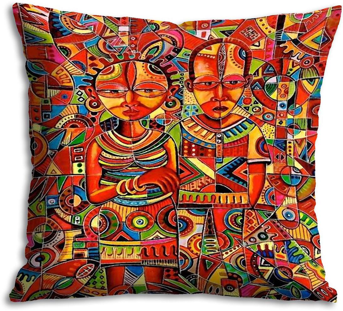 "Подушка декоративная Gift'n'Home ""Африка"", 35 х 35 см"