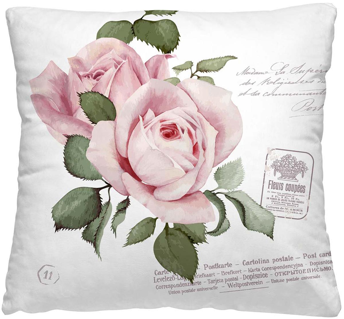Подушка декоративная Волшебная ночь Розовый бутон, 40 х 40 см195Декоративная подушка Волшебная ночь Розовый бутон прекрасно дополнит интерьер спальни или гостиной. Чехол подушки выполнен из 100% полиэстера.Лицевая сторона украшена красивым рисунком. Наполнитель - полиэстер.Красивая подушка создаст атмосферу уюта в доме и станет прекраснымэлементом декора. Особенности изделия: - Съёмный чехол на молнии; - Наполнитель в индивидуальной наволочке; - Оборотная сторона темно-розового цвета из стёганого полотна для улучшения формоустойчивости. Размер: 40 x 40 см.
