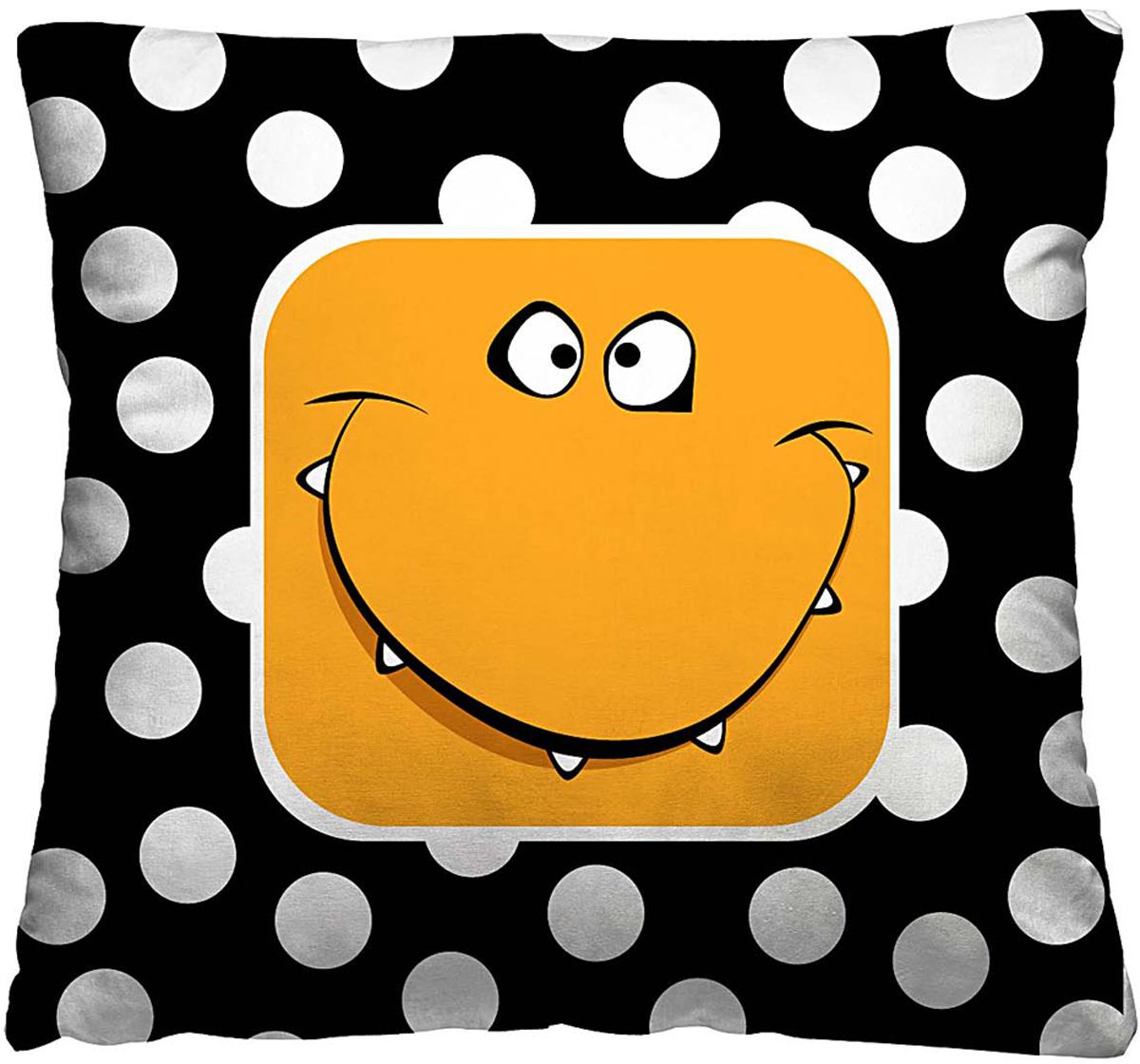 Подушка декоративная Волшебная ночь Смайлик, 40 х 40 см197157Одной из задач, которую решают подушки, является создание яркости и цветности в интерьере. Также изделия создают особую домашнюю атмосферу и уют. Конструкция декоративной подушки - практичная, удобная в эксплуатации и уходе.Особенности изделия: - Съёмный чехол на молнии; - Наполнитель в индивидуальной наволочке; - Оборотная сторона из стёганого полотна для улучшения формоустойчивостиРазмер: 40 x 40 см. Ткань чехла - полиэстер 100%. Наполнитель - мягкое и объёмное волокно из полиэстера 100%. Упаковка - Стильная упаковка с zip застёжкой.