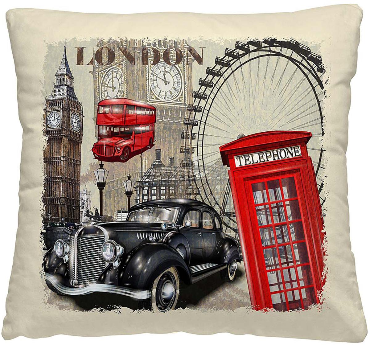Подушка декоративная Волшебная ночь Лондон, 40 х 40 см197164Декоративная подушка Волшебная ночь прекрасно дополнит интерьер спальни или гостиной. Чехол подушки выполнен из 100% полиэстера.Лицевая сторона украшена красивым рисунком. Наполнитель - полиэстер.Красивая подушка создаст атмосферу уюта в доме и станет прекраснымэлементом декора. Особенности изделия: - Съёмный чехол на молнии; - Наполнитель в индивидуальной наволочке; - Оборотная сторона из стёганого полотна для улучшения формоустойчивости.Размер: 40 x 40 см.