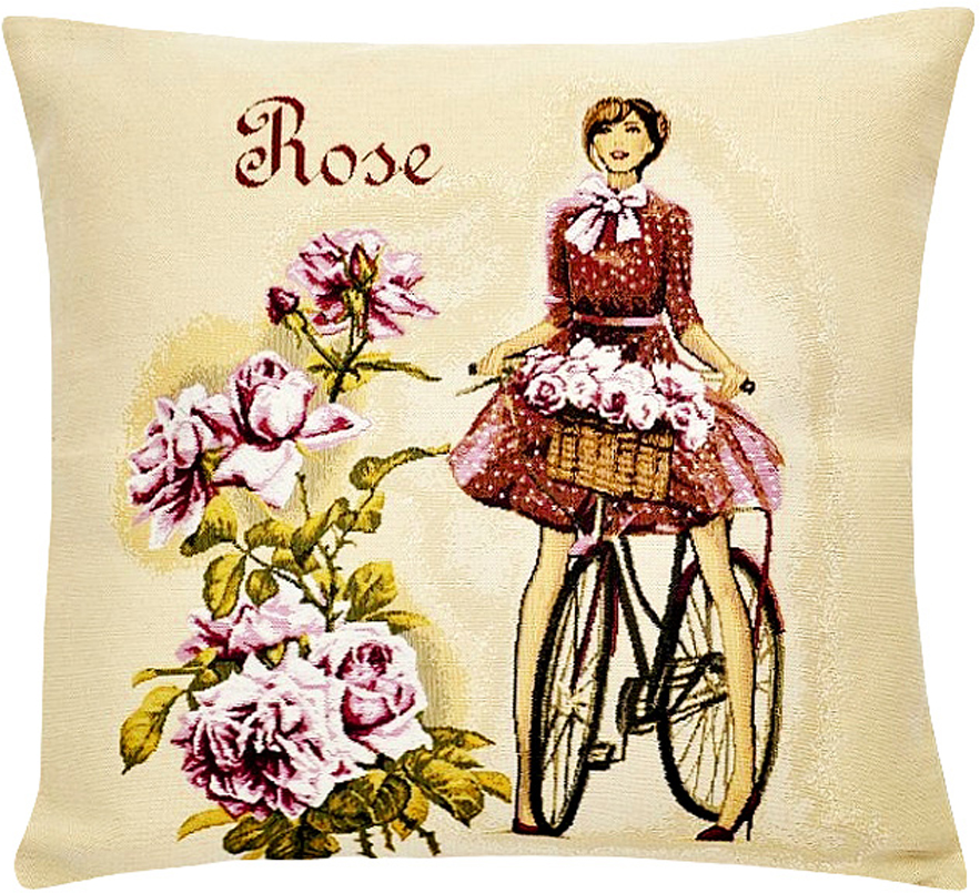 Подушка декоративная Рапира Леди роза, 45 х 45 см5227Декоративная подушка с наполнителем холлофайбер со съёмным чехлом намолнии, выполненным из жаккарда, - это яркий штрих в интерьере комнаты.Лицевая сторона - гобелен (жаккардовое ткачество), оборотная сторона - однотонная ткань типа плюш.
