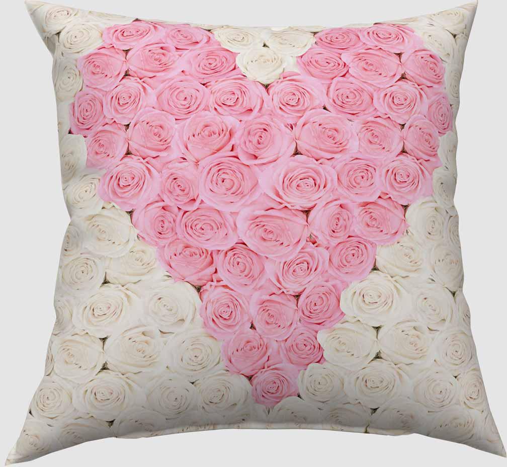 Подушка декоративная Сирень Сердце из роз , 40 х 40 см01145-ПШ-ГБ-012Декоративная подушка Сирень Сердце из роз, изготовленная из габардина (100% полиэстер), прекрасно дополнит интерьер спальни или гостиной. Подушка оформлена красочным изображением. Внутри - мягкий наполнитель из холлофайбера (100% полиэстер).Красивая подушка создаст атмосферу тепла и уюта в спальне и станет прекрасным элементом декора.