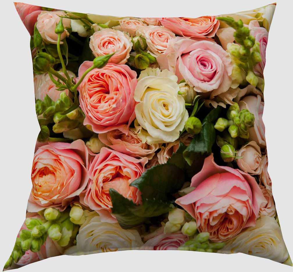 Подушка декоративная Сирень Букет французских роз, 40 х 40 см04479-ПШ-ГБ-012Декоративная подушка Сирень Букет французских роз, изготовленная из габардина (100% полиэстер), прекрасно дополнит интерьер спальни или гостиной. Подушка оформлена красочным изображением. Внутри - мягкий наполнитель из холлофайбера (100% полиэстер).Красивая подушка создаст атмосферу тепла и уюта в спальне и станет прекрасным элементом декора.