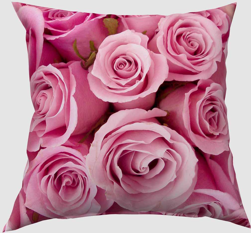 Подушка декоративная Сирень Розовые розы, 40 х 40 см04555-ПШ-ГБ-012Декоративная подушка Сирень Розовые розы, изготовленная из габардина (100% полиэстер), прекрасно дополнит интерьер спальни или гостиной. Подушка оформлена красочным изображением. Внутри - мягкий наполнитель из холлофайбера (100% полиэстер).Красивая подушка создаст атмосферу тепла и уюта в спальне и станет прекрасным элементом декора.