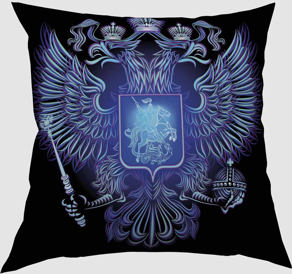 Подушка декоративная Сирень Герб, 40 х 40 см