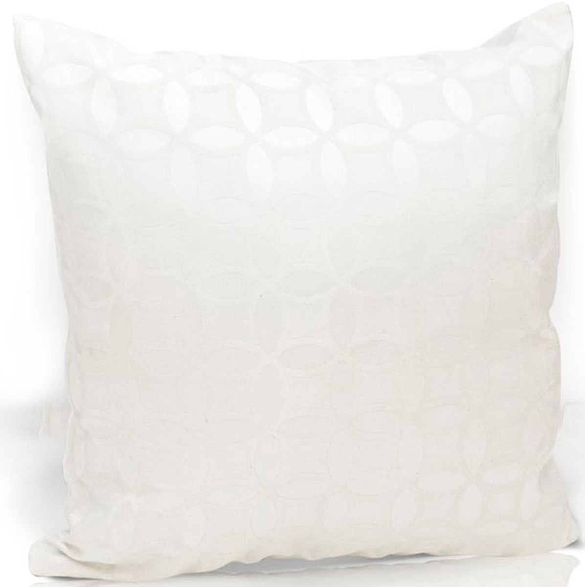 Подушка декоративная KauffOrt Линза, цвет: белый, 40 х 40 см3122225610Декоративная подушка KauffOrt  прекрасно дополнит интерьер спальни или гостиной. Чехолподушки выполнен из двухстороннего жаккарда (12% хлопок, 76% полиэстер, 12% полиакрил). Внутри находится мягкий наполнитель.Чехол легко снимаетсяблагодаря потайной молнии.