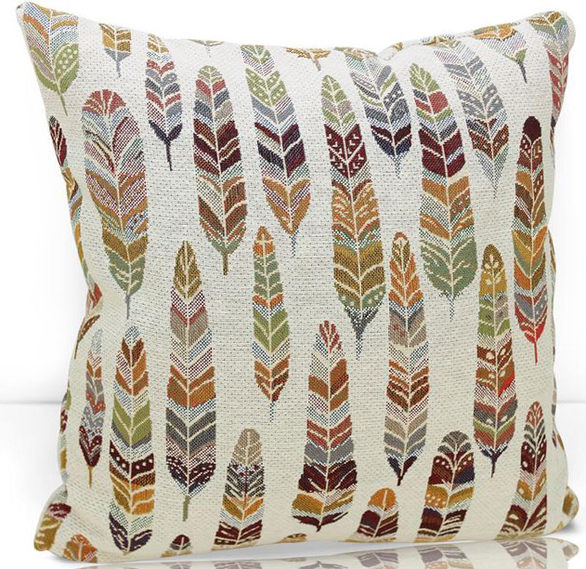 """Декоративная подушка """"KauffOrt """" прекрасно дополнит интерьер спальни или гостиной. Чехол  подушки выполнен из жаккарда (45% хлопок, 55% полиэстер). Внутри находится мягкий наполнитель.  Чехол легко снимается  благодаря потайной молнии."""
