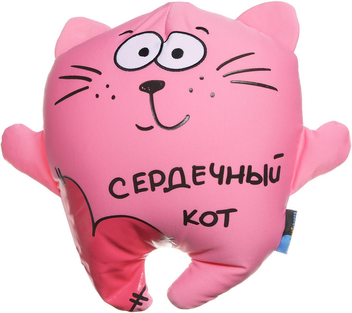 Maxi Toys Подушка-антистресс Сердечный кот сувенир сувенирыч подушка игрушка антистресс кот ученый