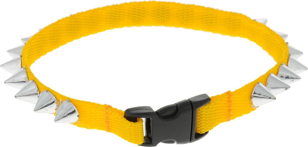 Ошейник для животных GLG Рокер, цвет: желтый, длина 24 смOH20/B_ желтыйОшейник для животных GLG Рокер изготовлен из нейлона и высококачественного пластика. Сверхпрочные нити делают ошейник надежным и долговечным. Ошейник оформлен декоративнымиэлементами.Длина ошейника: 24 см. Ширина ошейника: 1 см.