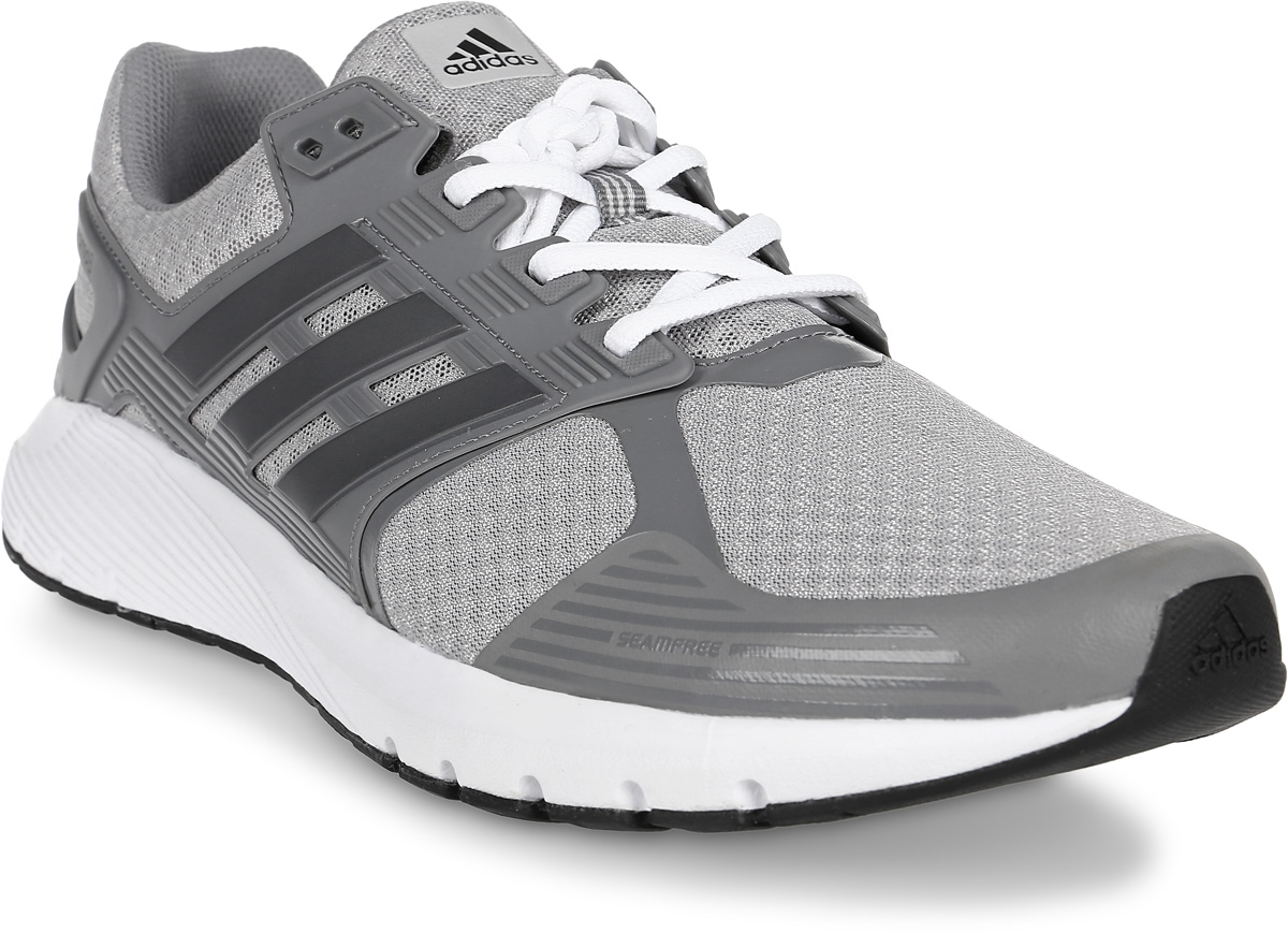 Кроссовки для бега мужские Adidas Duramo 8, цвет: серый. BA8082. Размер 12 (46)BA8082Когда на каждое приземление и толчок подошва отзывается приятной мягкостью и пружинящим эффектом, тебе хочется, чтобы пробежка не заканчивалась. Беговые кроссовки Adidas Duramo 8 с промежуточной подошвой Cloudfoam и удобной и функциональной стелькой OrthoLite обеспечивают именно такие ощущения. Верх из крупной сетки хорошо вентилирует стопу, а каркас из термополиуретана в средней части стопы предоставляет поддержку в ключевых зонах. Исключительно износостойкая подошва Adiwear изготовлена из высококачественной легкой резины и оснащена технологией Cloudfoam для поглощения ударных нагрузок и комфортной посадки без разнашивания. Поверхность подошвы дополнена рельефным рисунком.Перепад высоты на промежуточной подошве: 10 мм (пятка: 22 мм / носок: 12 мм).