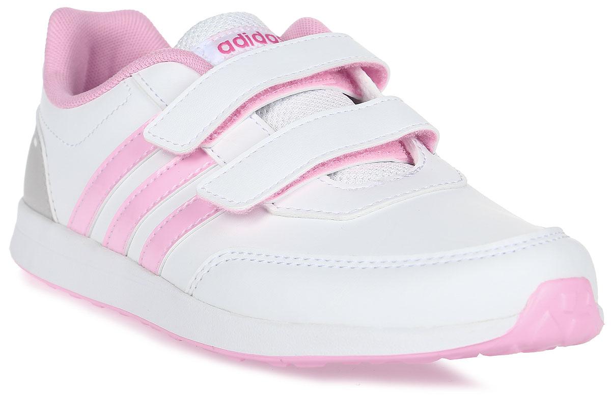 Кроссовки для девочки adidas VS Switch 2 CMF C, цвет: белый, розовый. BC0096. Размер 34BC0096Кроссовки от Adidas придутся по душе вашему ребенку. Верх обуви, изготовленный из искусственной кожи, оформлен логотипом бренда на заднике и фирменной нашивкой на язычке. Ремешки с липучками надежно зафиксируют изделие на ноге. Подкладка и стелька из текстиля гарантируют комфорт и уют. Стильные кроссовки займут достойное место в гардеробе вашего ребенка.
