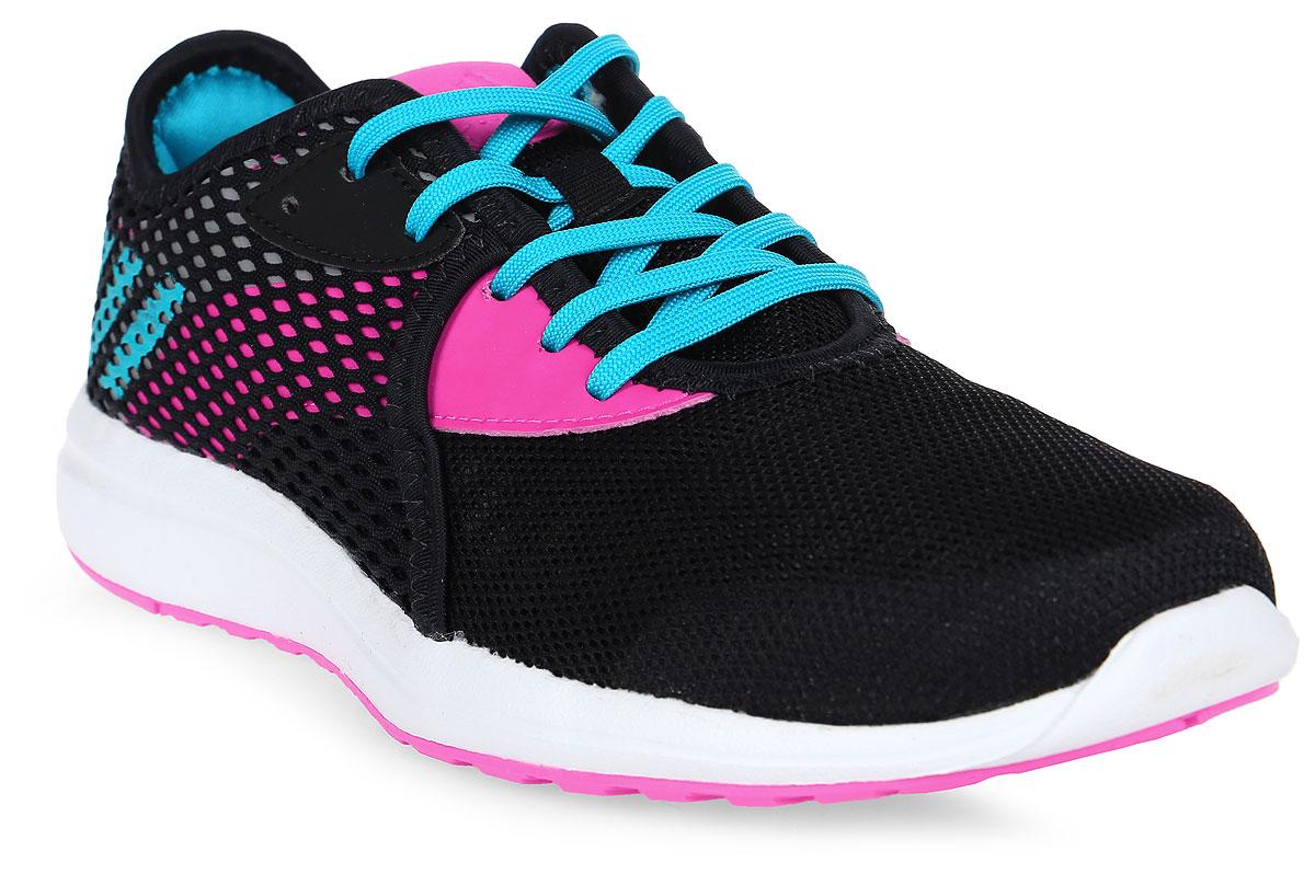 Кроссовки для девочки adidas Durama 2 K, цвет: черный, розовый. BA7413. Размер 36,5BA7413Кроссовки от Adidas придутся по душе вашему ребенку. Дышащий верх из прочного синтетического материала дополнен накладкой из крупной сетки и гарантирует свободную воздухопроводимость. Классическая шнуровка надежно зафиксирует изделие на ноге. Промежуточная вставка CloudFoam поглощает ударную нагрузку. Уникальная антибактериальная стелька EcoOrthoLite® способствует невесомой амортизации и предотвращает появление неприятных запахов после длительной пробежки или прогулки. Легкая подошва с износостойкой подметкой с цепким вафельным узором для сцепления с любыми поверхностями. Стильные кроссовки займут достойное место в гардеробе вашего ребенка.