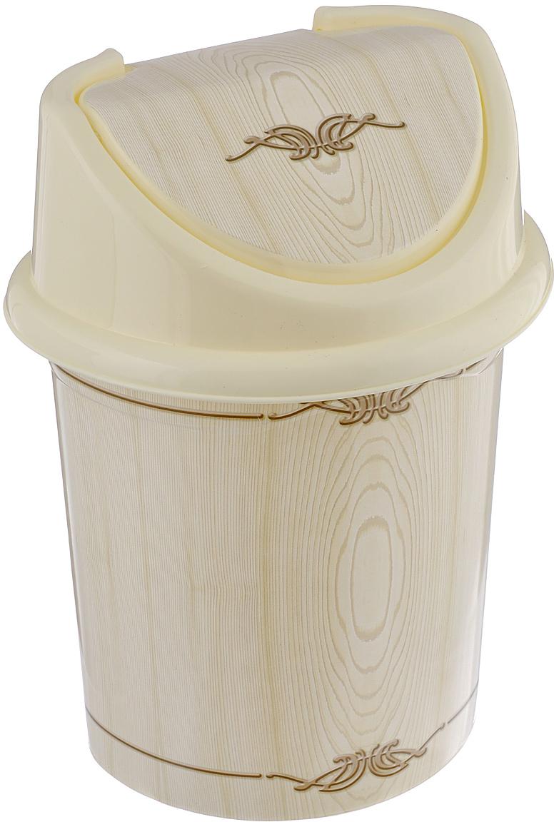 Контейнер для мусора Violet Беленый дуб, цвет: слоновая кость, коричневый, 8 л810389Контейнер для мусора Violet Беленый дуб изготовлен из прочного пластика. Контейнер снабжен удобной съемной крышкой с подвижной перегородкой. В нем удобно хранить мелкий мусор. Благодаря лаконичному дизайну такой контейнер идеально впишется в интерьер и дома, и офиса.Размер изделия: 21 см x 26 см x 35,5 см.