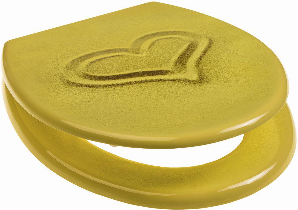 Сидение для унитаза Vanstore Песок Sand, с антибактериальным покрытием, 42 х 37 х 7 см ершик для унитаза vanstore 11 х 11 х 32 см