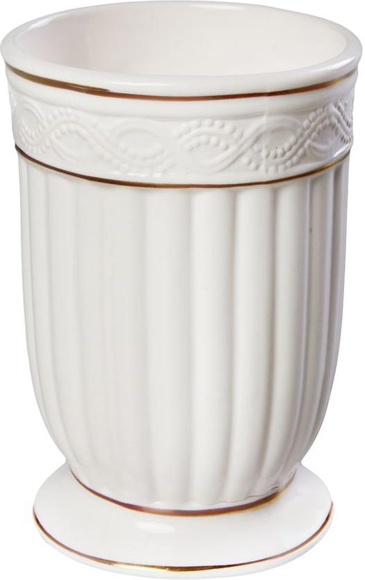 """Стакан для ванной Vanstore """"Allureизготовлен из высококачественной керамики. В таком стакане удобно хранить зубные щетки, тюбики с зубной пастой и другие принадлежности. Стакан для ванной Vanstore """"Allure стильно украсит интерьер и добавит в обычную обстановку модные акценты."""