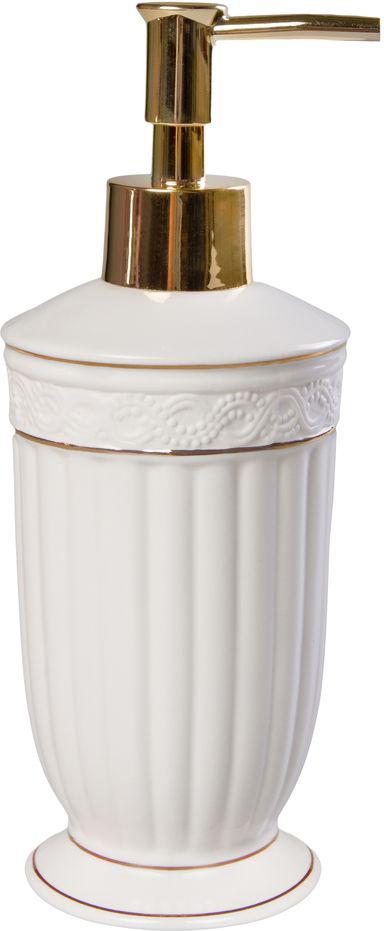 """Керамический дозатор жидкого мыла Vanstore """"Allure"""" позволит вам одним нажатием кнопки получать нужное количество моющих средств во время купания и умывания. Его можно установить на кухне или в ванной. Купить аксессуар будет верным решением, если вы любите практичные и красивые вещи."""