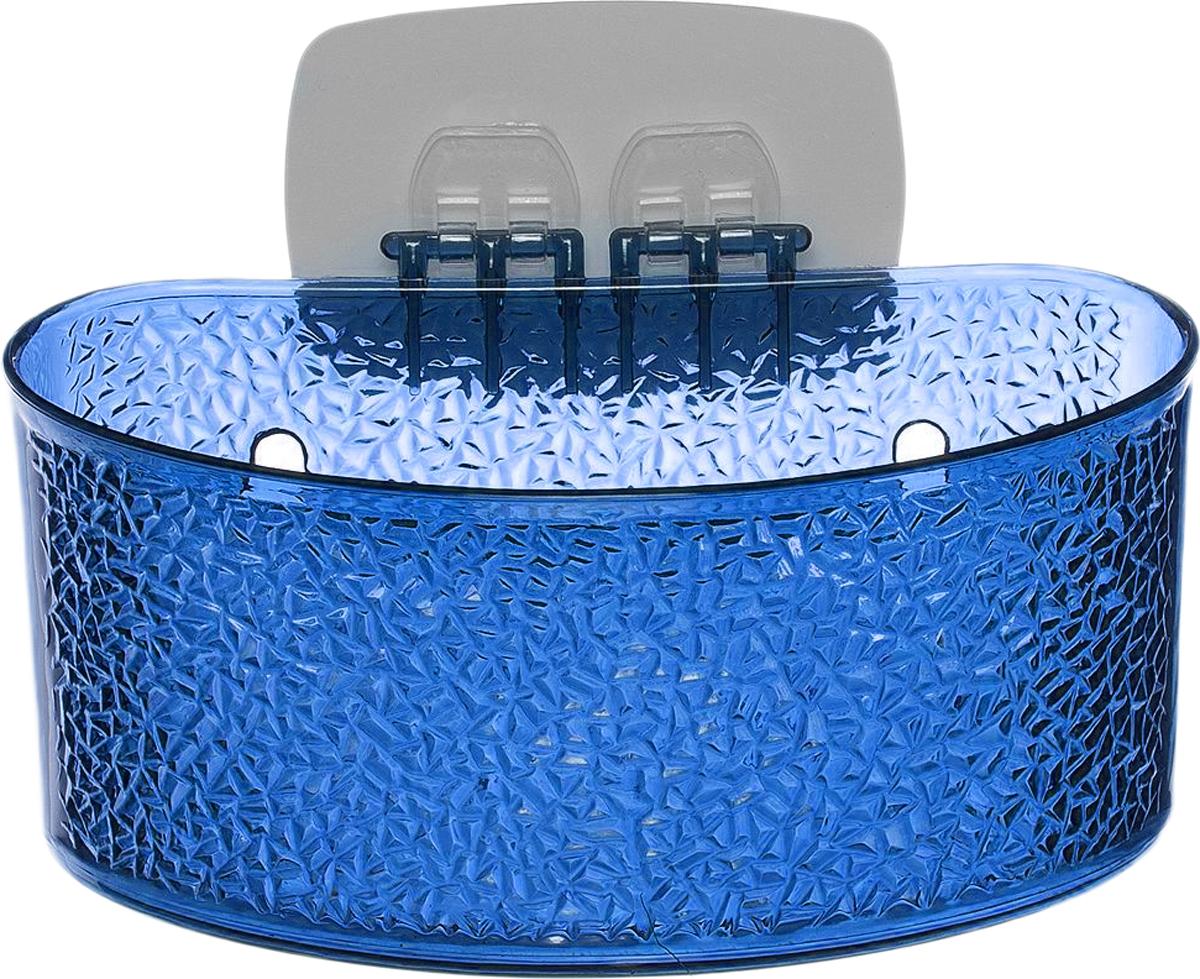 Полка для ванной комнаты Fresh Code, на липкой основе, цвет: синий, 19 х 10 х 10 см64943_ синийПолка для ванной комнаты Fresh Code выполнена из ABS пластика. Крепление на липкой основе многократного использования идеальноподходит для гладкой поверхности. Полка поможет создать настроение вашейванной комнаты. Подходит для всех типов гладких поверхностей.Максимальная нагрузка 3 кг.